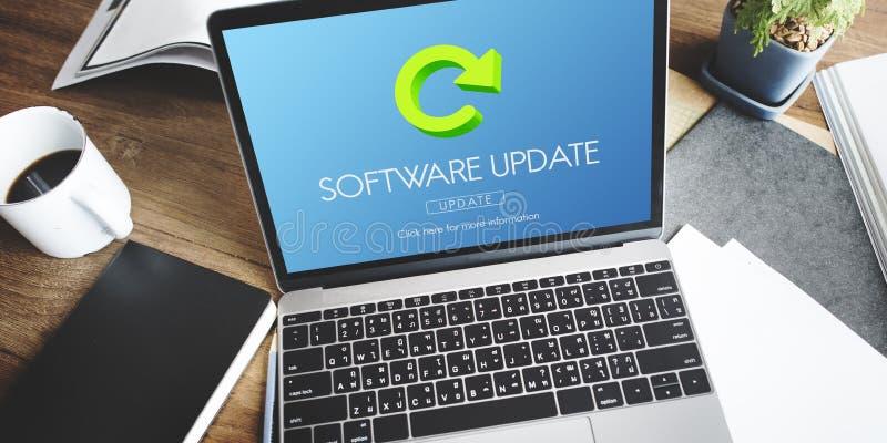 软件更新节目数字式改善概念 库存例证
