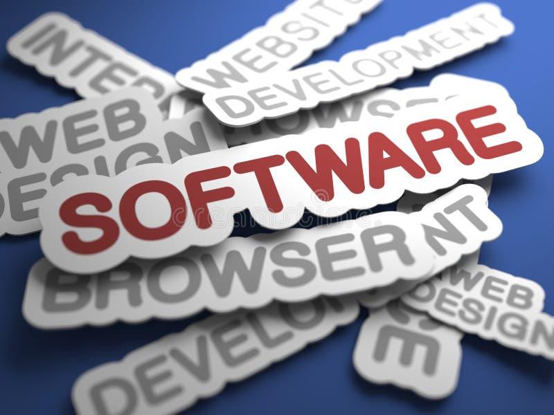 软件概念。 皇族释放例证