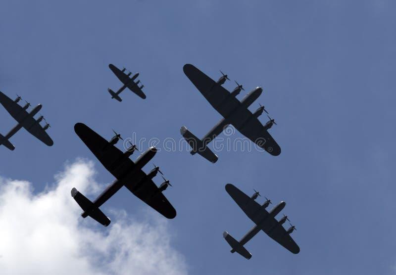 轰炸机袭击一千 免版税库存图片
