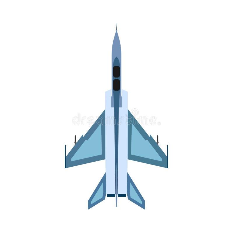 轰炸机顶视图传染媒介象 战斗天空技术设计攻击空军 平面军事战斗机战争 库存例证