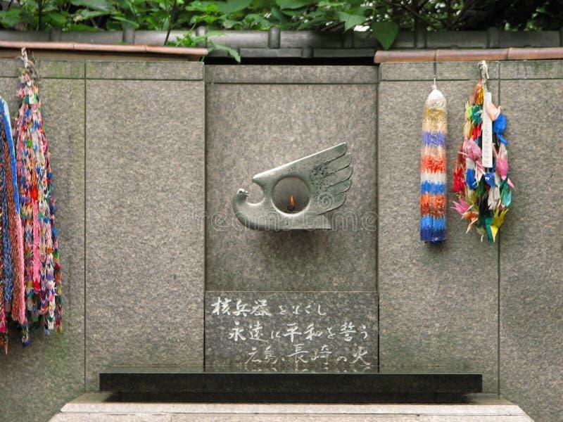 轰炸火焰广岛 库存照片