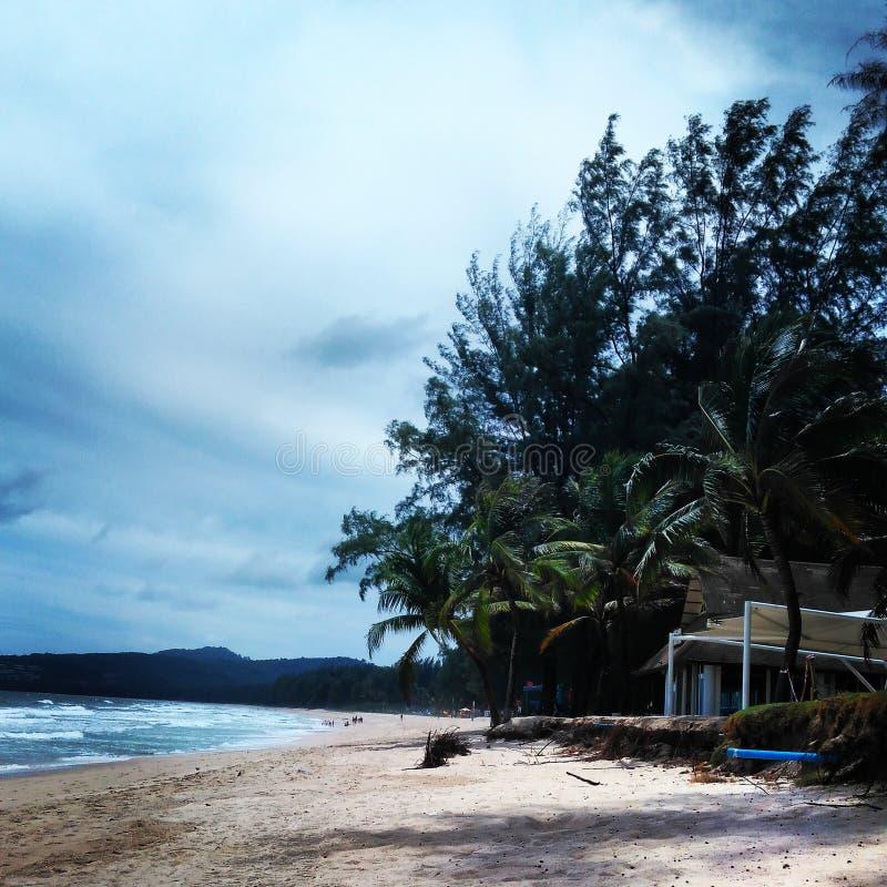 轰隆陶海滩 免版税库存图片