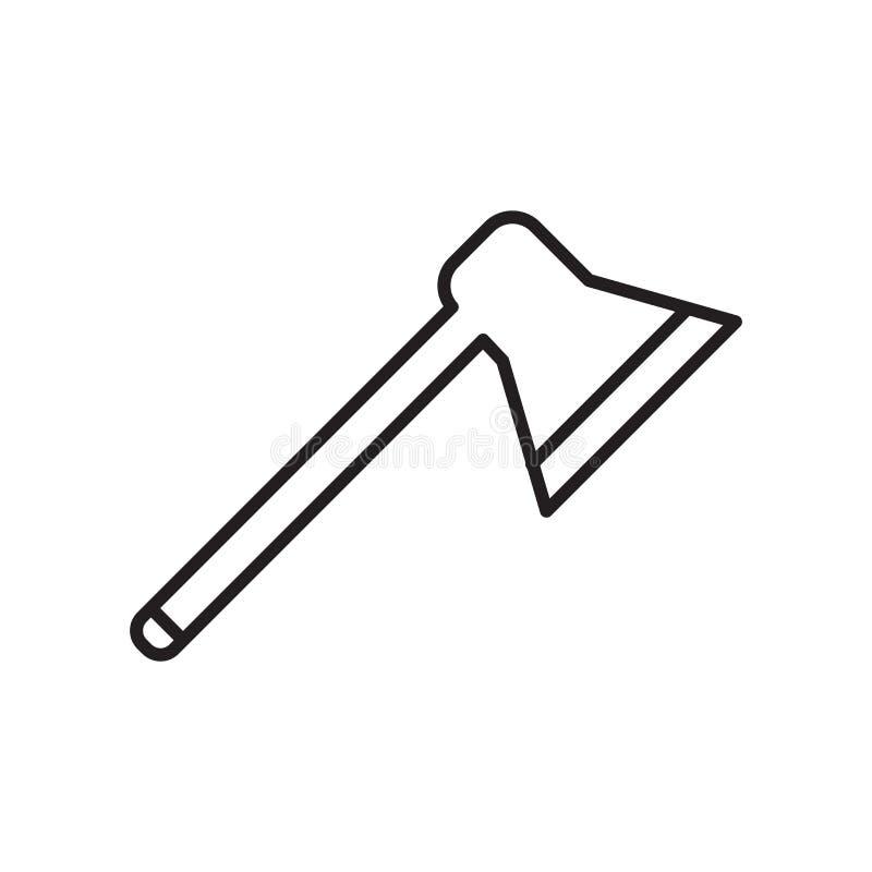 轴在白色背景隔绝的象传染媒介,砍标志、标志和标志在稀薄的线性概述样式 向量例证