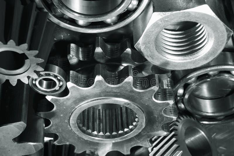 轴承螺栓齿轮 库存照片