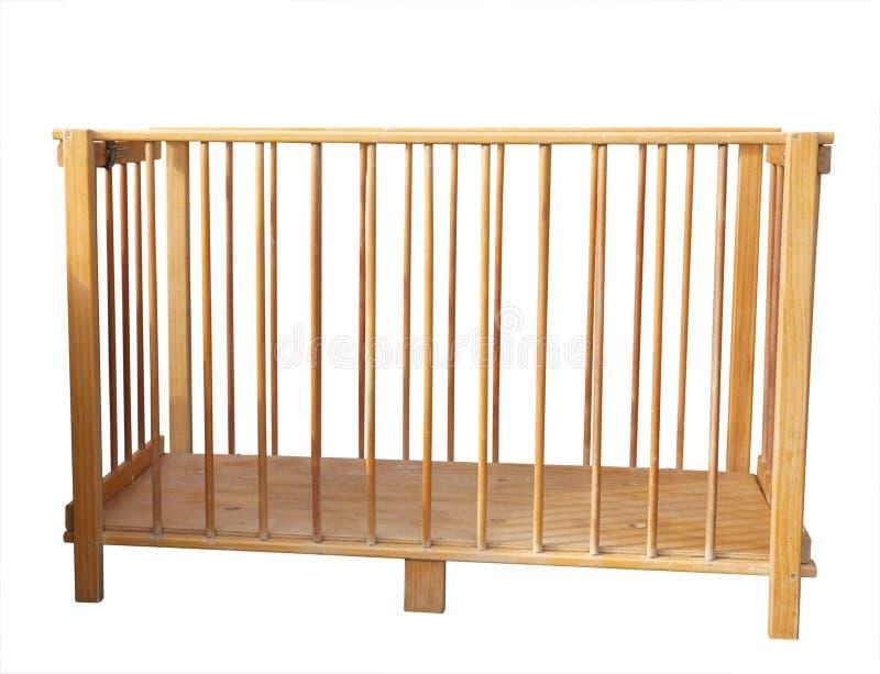 轻便小床折叠木 免版税图库摄影