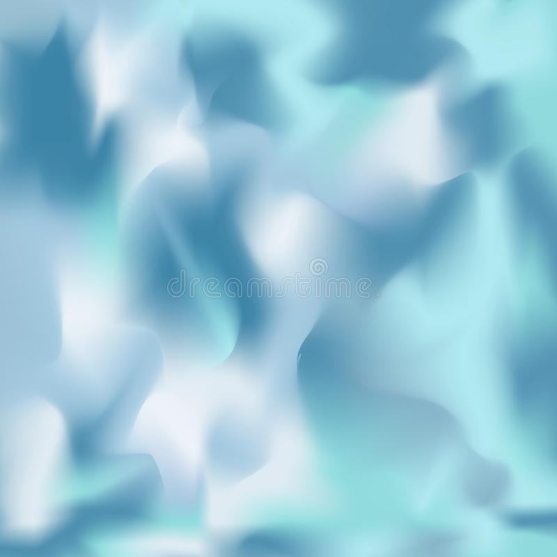 轻和深蓝树荫被弄脏的抽象多色背景,有时与青绿色色彩 库存例证