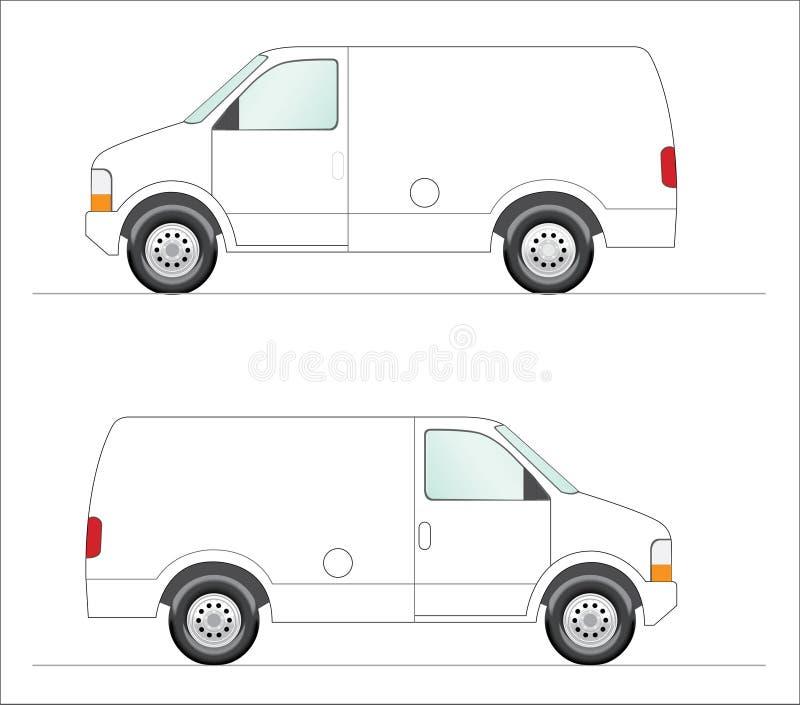 轻型货车白色 皇族释放例证
