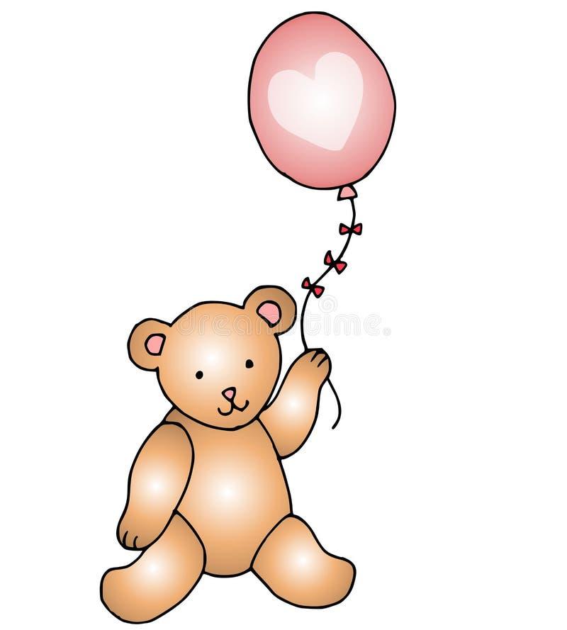 轻快优雅熊重点粉红色女用连杉衬裤 向量例证