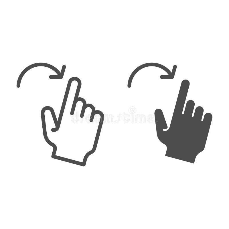 轻打正确的姿态线和纵的沟纹象 对在白色隔绝的正确的传染媒介例证的重击 点击概述样式 库存例证