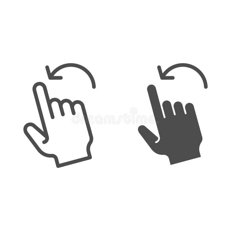 轻打留下姿态线和纵的沟纹象 对在白色隔绝的左传染媒介例证的重击 点击概述样式设计 库存例证