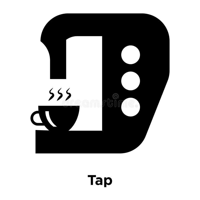 轻拍在白色背景隔绝的象传染媒介, Ta商标概念  库存例证