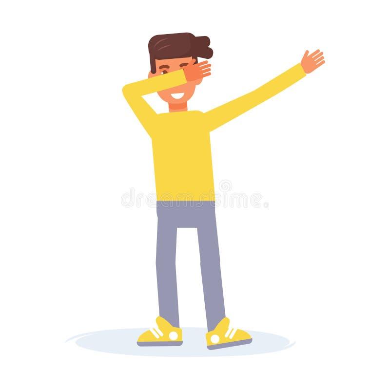 轻拍舞蹈传染媒介 动画片 我 向量例证