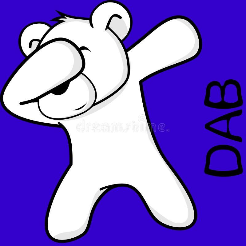 轻拍轻打的姿势北极熊孩子动画片 库存例证