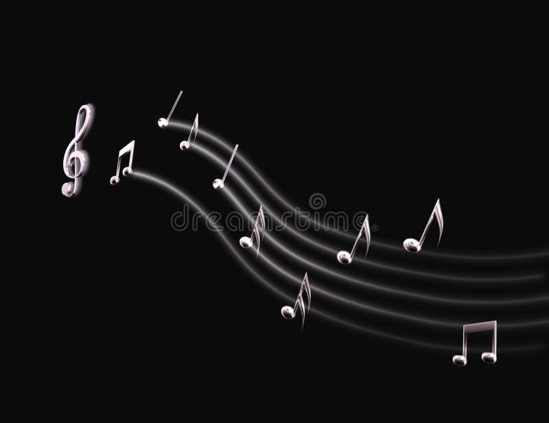轻的乐谱 免版税库存图片