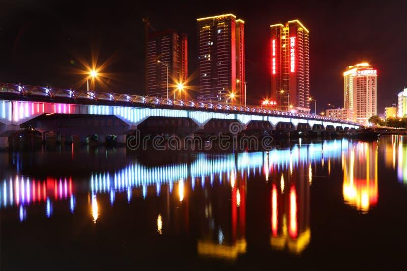 轻的展示和桥梁工程 免版税图库摄影