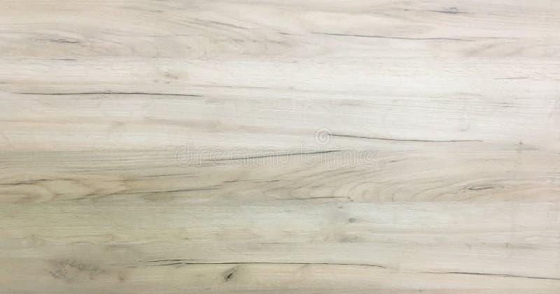 轻的木纹理背景,白色木板条 老难看的东西洗涤了木头,被绘的木桌样式顶视图 免版税图库摄影
