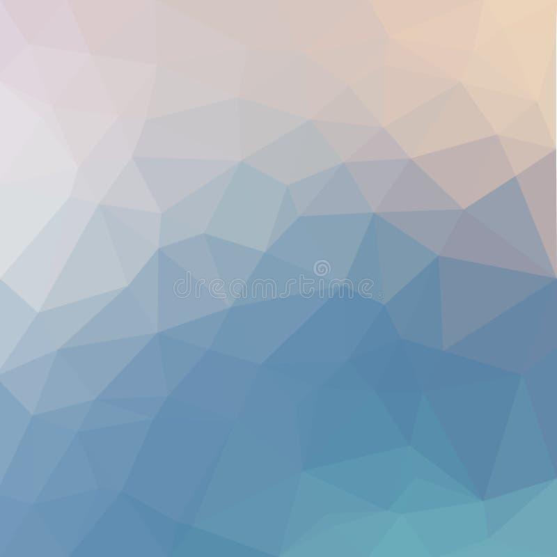 轻的淡色传染媒介低多水晶背景 多角形 皇族释放例证