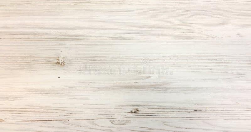 轻的白色作为背景的洗涤软的木纹理表面 难看的东西粉刷了木板条桌样式顶视图 免版税库存图片