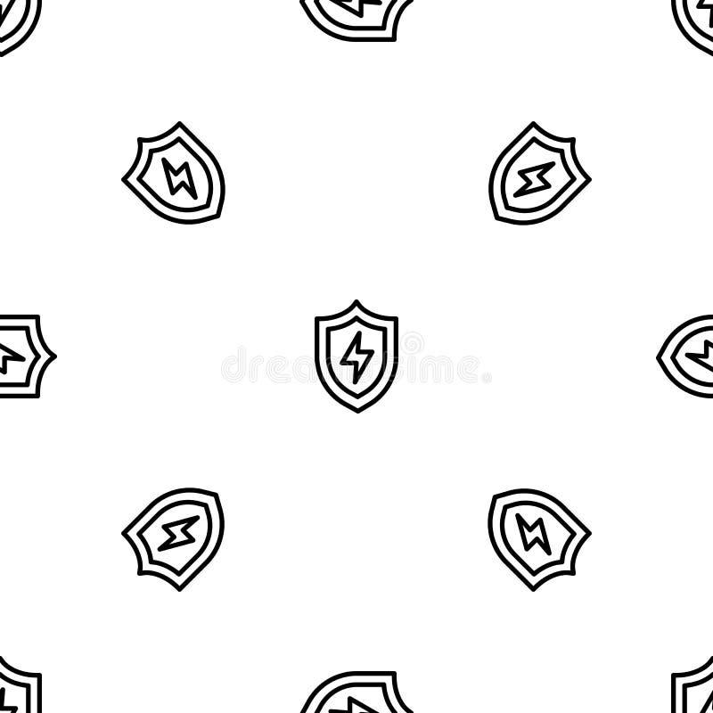 轻的盾样式无缝的传染媒介 向量例证