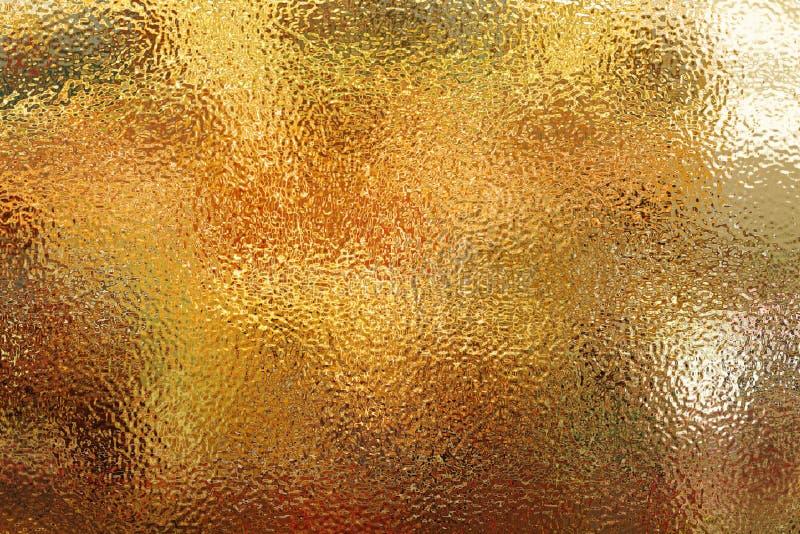 轻的金黄橙色表面无光泽的表面 被弄脏的秋天背景 库存例证