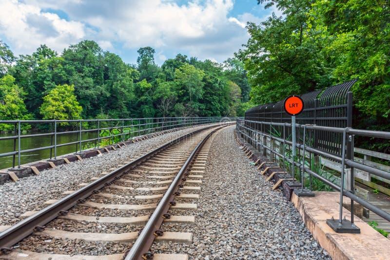 轻的铁路轨道 图库摄影