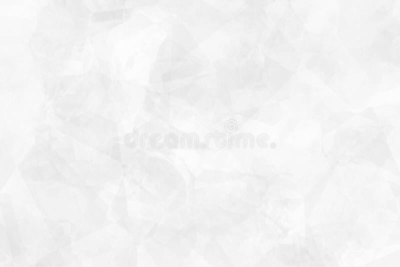 轻的银色,灰色多角形摘要模板 库存照片