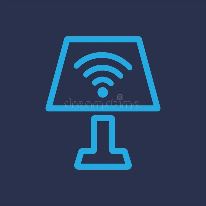 轻的Wifi蓝色商标传染媒介 皇族释放例证