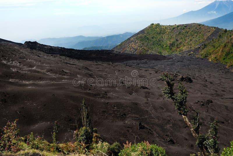 轻石火山 库存图片
