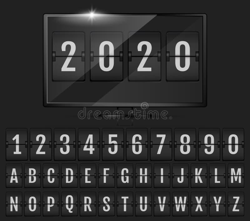 轻碰年读秒定时器  库存例证