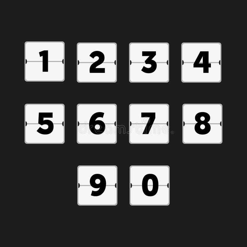 轻碰读秒定时器,每小时日程表 数字计数 皇族释放例证