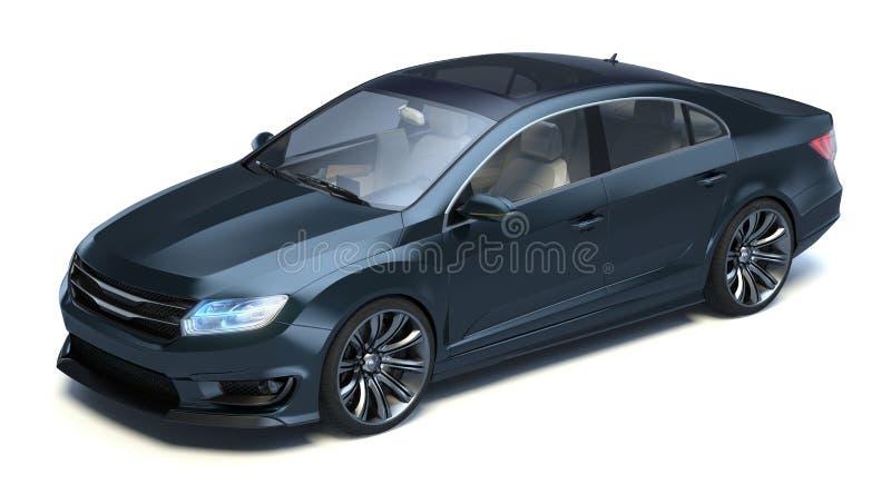 轿车3d概念汽车 皇族释放例证