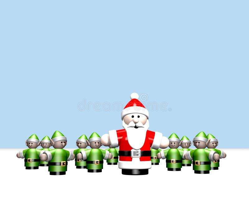 辅助工他小的北极圣诞老人 向量例证