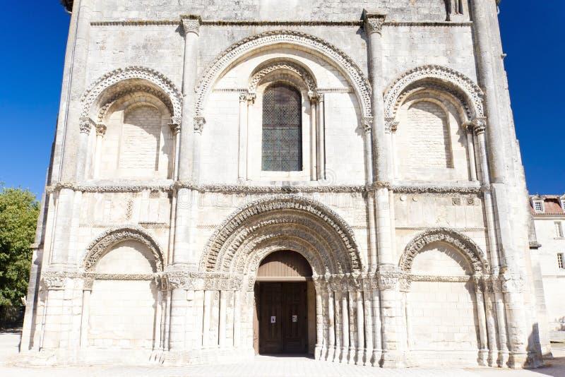 辅助贵妇人Abbey,桑特海峡,普瓦图-夏朗德,法国 图库摄影