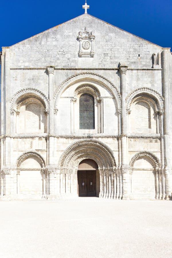 辅助贵妇人Abbey,桑特海峡,普瓦图-夏朗德,法国 库存图片