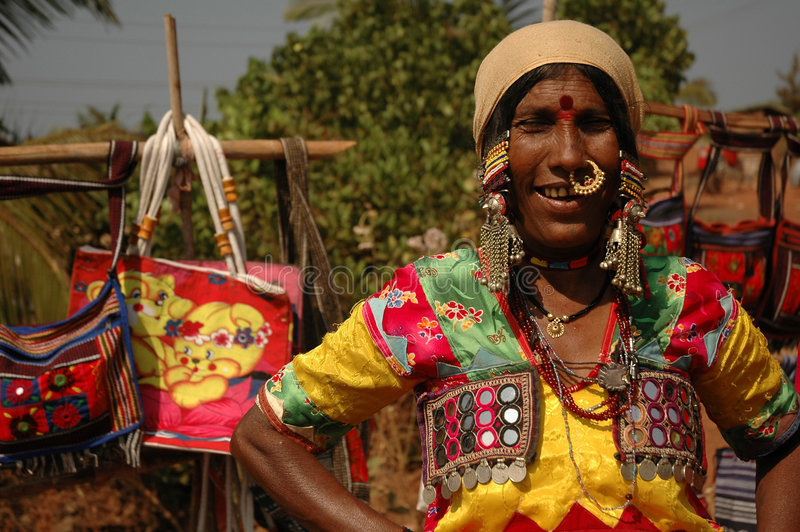 辅助部件印地安人市场 免版税库存图片