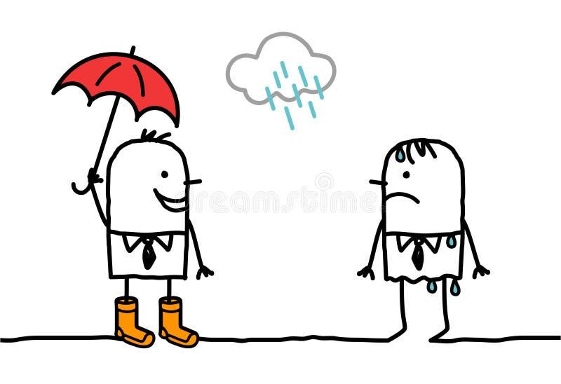 辅助部件多雨天气 库存例证