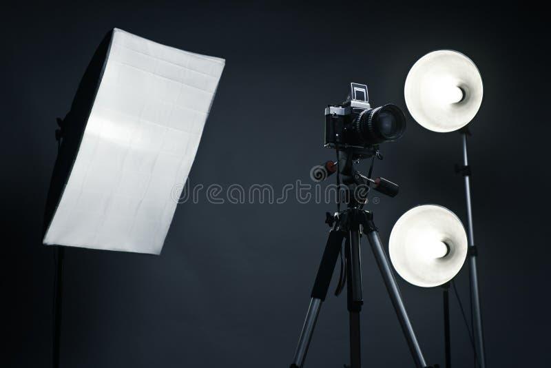 辅助部件背景光工作室 库存照片