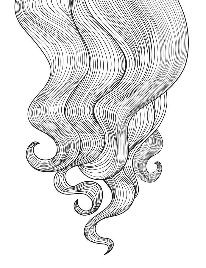 辅助部件背景dreadlocks头发 概述理发沙龙框架设计 库存例证