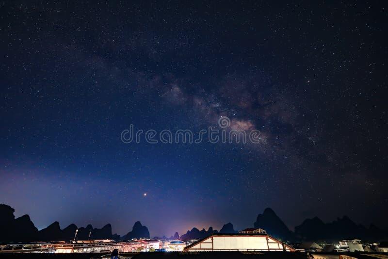 辉县市,中国星系  免版税图库摄影