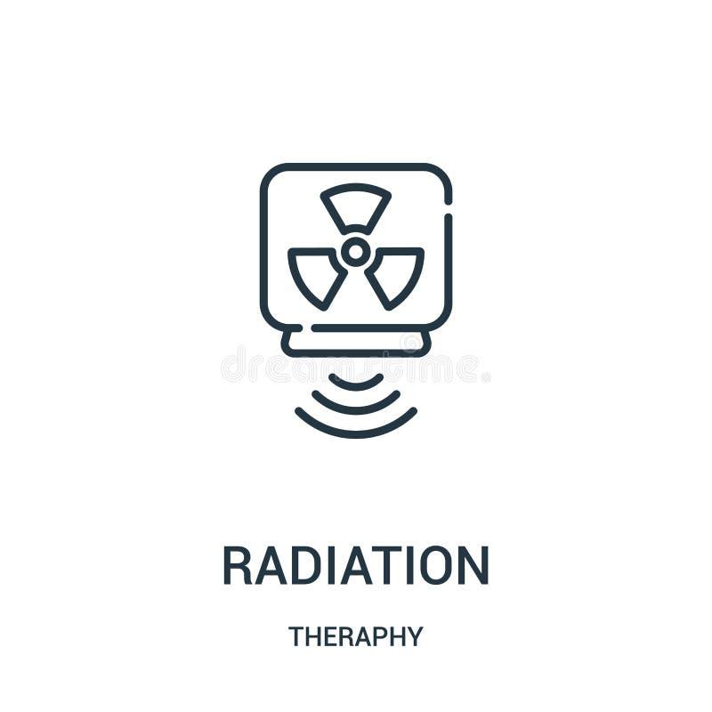辐射从theraphy汇集的象传染媒介 稀薄的线辐射概述象传染媒介例证 皇族释放例证