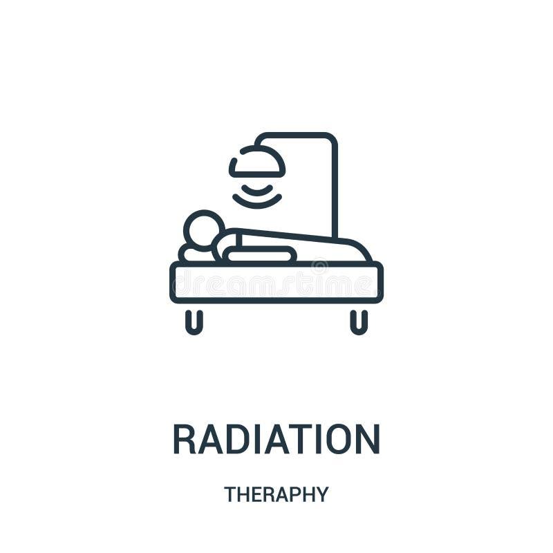 辐射从theraphy汇集的象传染媒介 稀薄的线辐射概述象传染媒介例证 库存例证