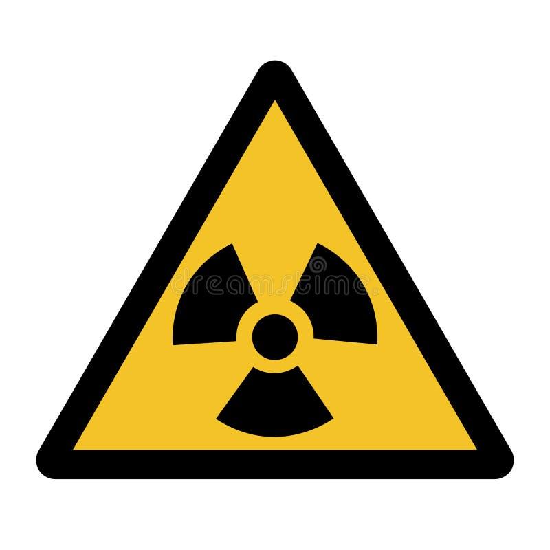 辐射危害标志在白色背景,传染媒介例证EPS的标志孤立 10 向量例证