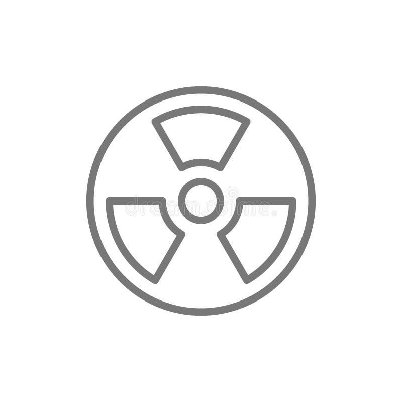 辐射危害标志线象 皇族释放例证