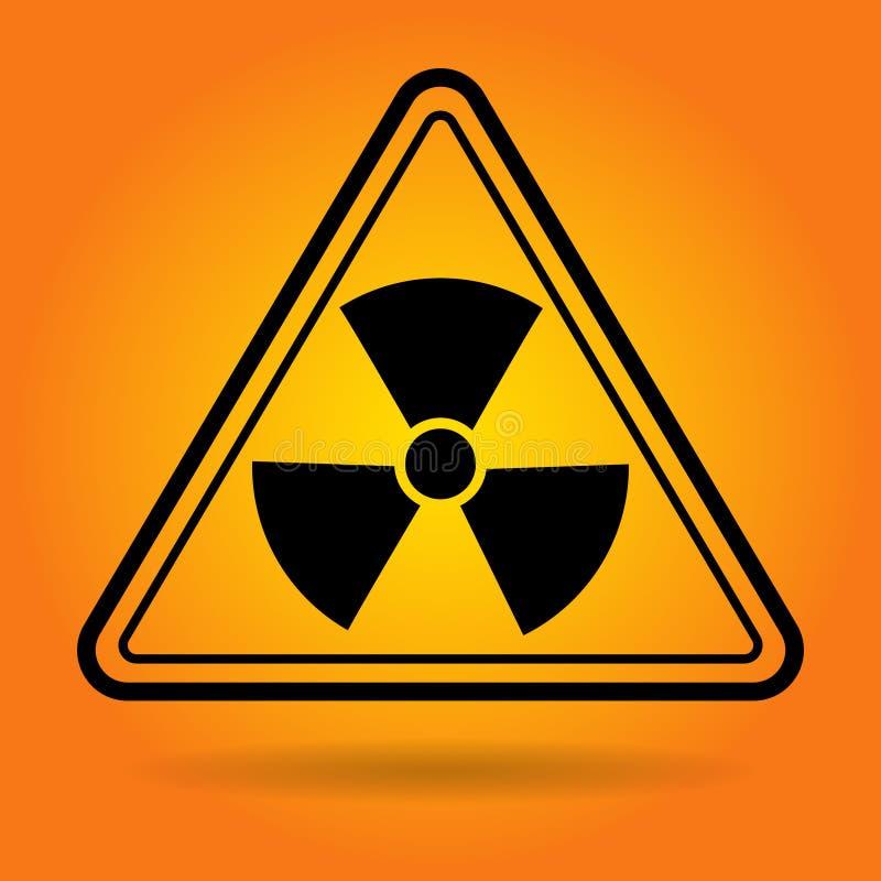 辐射安全标志象 向量例证