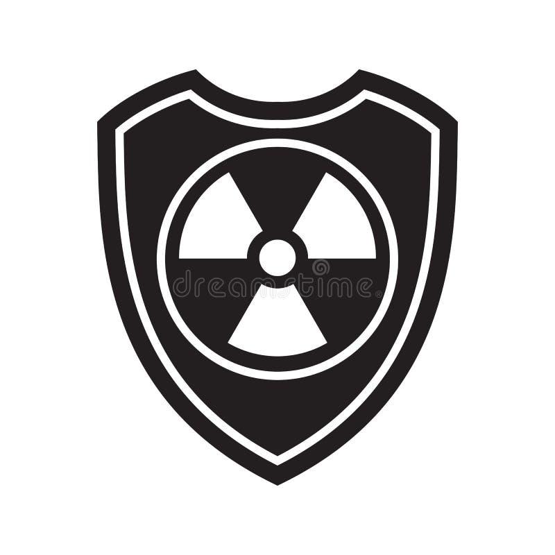 辐射盾象  防御、保护或者安全标志,标志 皇族释放例证