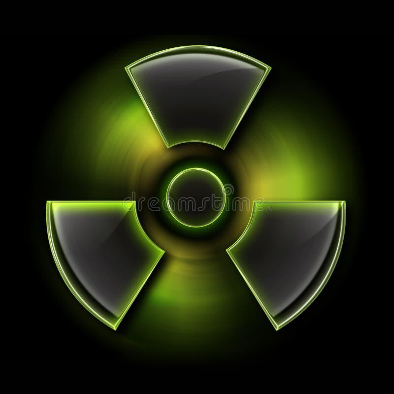 辐射符号 皇族释放例证
