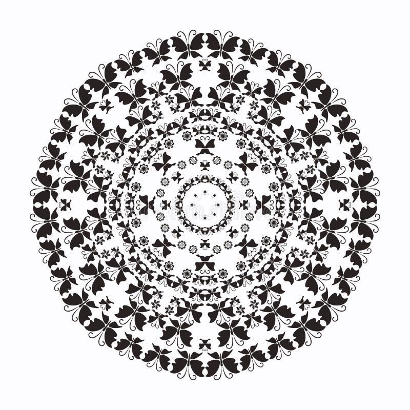 辐形样式等高黑白照片蝴蝶 向量例证