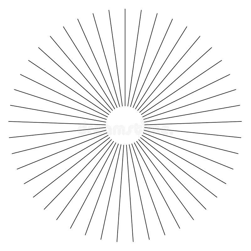 辐形线摘要几何元素 轮幅,放热小条 皇族释放例证