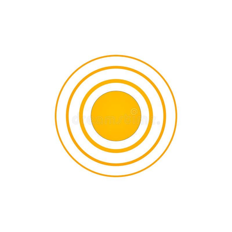 辐形,放热圆元素 传输的,放射,辐射图表,传播,扩展题材 向量 向量例证