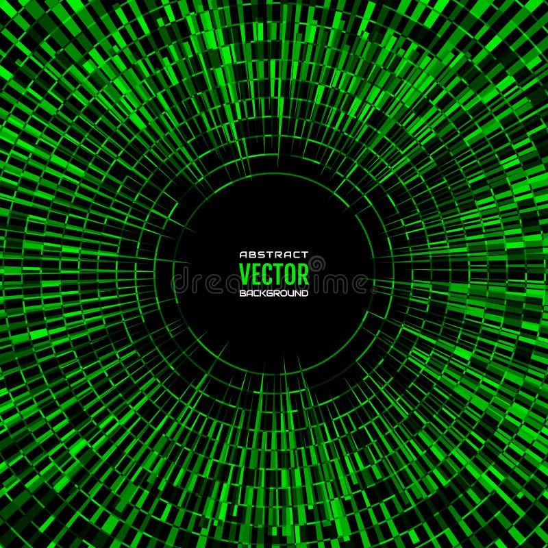 辐形任意抽象形状的方形的几何例证 绿色迪斯科球背景 向量例证